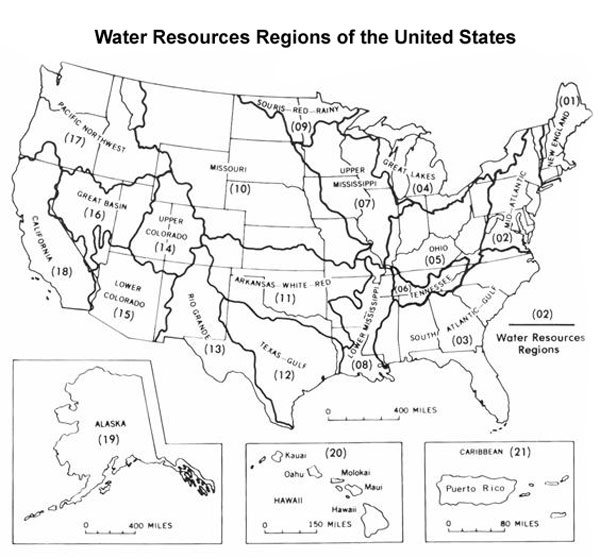 Us Map Of Rivers