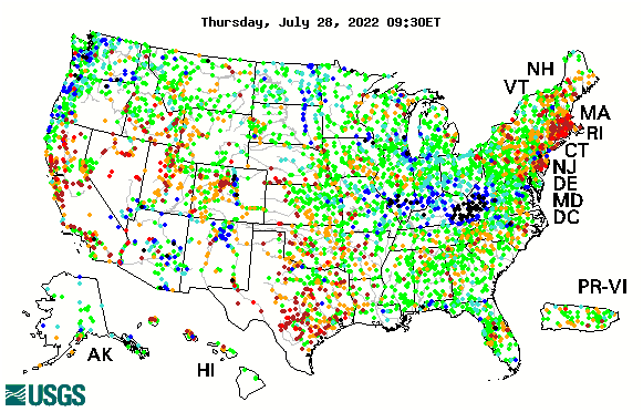 streamflow map