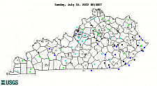 Click map to go to current water resources conditions in Kentucky.