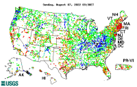 Click map to go to current water resources conditions in the U.S.