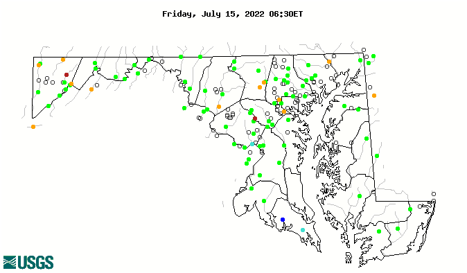 Maryland Streamflow Percentiles