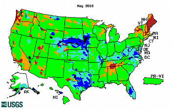 Streamflow map. Click for a large map